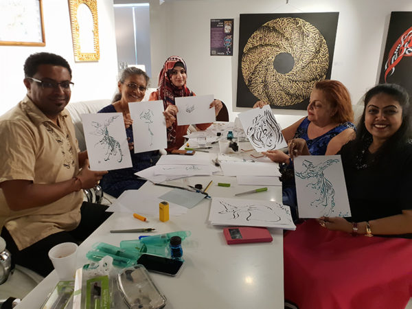 Dubai - Arabic Calligraphy Workshop by Hicham Chajai
